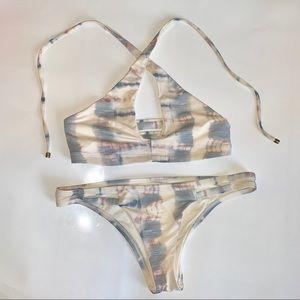 Tie dye bikini, top size small & bottom size M